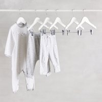 Baby Clothes Hangers – Set of 6, White, One Size