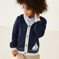 Sail Boat Cardigan (1-6yrs)