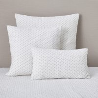 Brittany Cushion Cover, White Grey, Medium Square