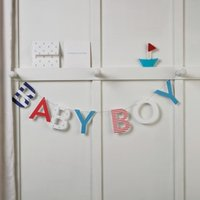 Baby Boy Bunting & Card, Blue, One Size