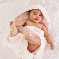 Bear Hydrocotton Hooded Towel, Pink, Large
