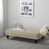 Beaufort Linen Union Ottoman, Natural Linen Union, One Size