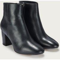 Block Heel Ankle Boots, Black, 39