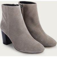 Block Heel Ankle Boots, Grey, 41