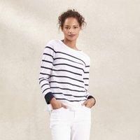 Blocked Breton Stripe T-Shirt , White Navy, 10