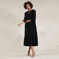 Boho Sparkle Maxi Dress , Black, 14