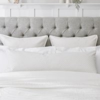 Bolster Cushion Cover, White, Bench