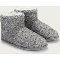 Boucle Slipper Boots , Pale Grey, 6