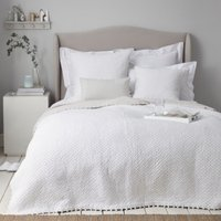Brittany Quilt, White Grey, Single