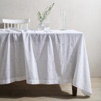 Broderie Anglaise Table Cloth , White, One Size