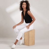 Brompton Boyfriend Jeans - 30 Length, White, 18