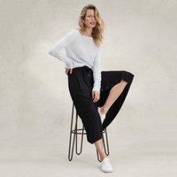 Button-Through Midi Skirt, Black, 10