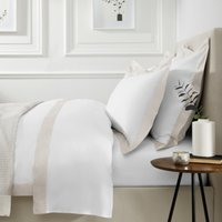 Camborne Duvet Cover, Oyster, Double