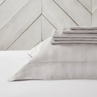 Cambridge Flat Sheet, Silver, Single