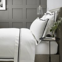 Cavendish Duvet Cover, White/Black, Super King