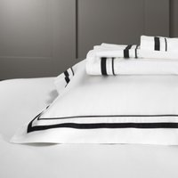 Cavendish Flat Sheet, White/Black, Super King