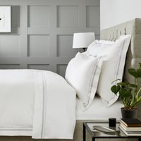 Cavendish Duvet Cover, White Silver, Double