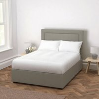 Cavendish Cotton Bed - Headboard Height 154cm, Grey Cotton, Double