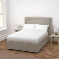 Cavendish Wool Bed - Headboard Height 130cm, Light Grey Wool, King