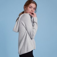Cotton-Cashmere Waffle Hoodie