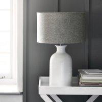 Ceramic Large  Bottle Table Lamp , White Grey, One Size