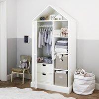 Classic House Wardrobe, White, One Size