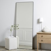 Chiltern Thin Metal Full Length Mirror, Black, One Size
