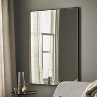 Chiltern Thin Metal Rectangular Mirror, Black, One Size