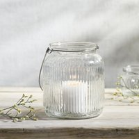 Ribbed Glass Medium Hanging Lantern, Clear, One Size