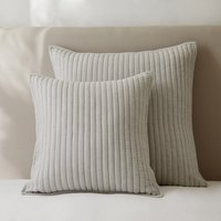 Coleridge Cushion Covers, Silver Grey, Large Square