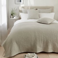 Coleridge Quilt , Silver Grey, Double