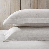 Clarendon Oxford Pillowcase with Border – Single, Grey Stripe, Super King