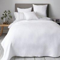 Classic Rib Bedspread, White, Super King