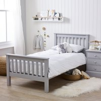 Classic Single Bed , Grey, One Size