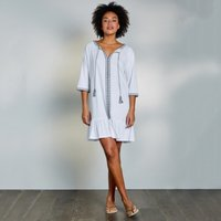 Cotton-Linen Beaded Cover Up Dress