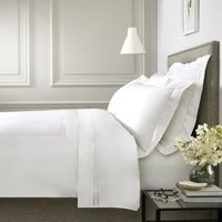 Clermont Duvet Cover, White, Single