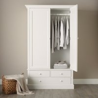 Classic Large Wardrobe, White, One Size