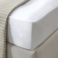 Connaught Deep Fitted Sheet, Chalk, Double