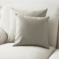 Scatter Cushion Cotton, Silver Cotton, Medium Square