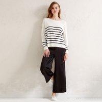 Cotton-Rich Raised Stripe Jumper