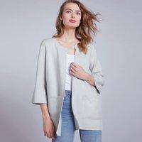 Cotton-Wool Grosgrain Trim Coatigan