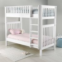 Classic Convertible Bunk Bed, White, One Size