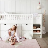 Classic Mid Sleeper Bed, White, Single