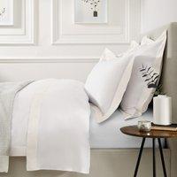 Camborne Duvet Cover, White Ivory, King