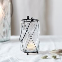 Captured Wire Tealight Holder, Clear, One Size