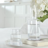 Carafe & Tumbler Set, Clear, One Size