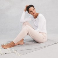 Cashmere Joggers, Petal Pink, Small