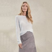 Cashmere Layering Jumper , Pale Blue Marl, Extra Large