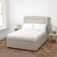 Cavendish Cotton Bed - Headboard Height 154cm, Silver Cotton, King