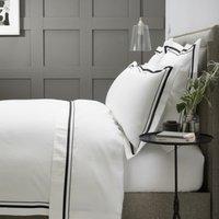 Cavendish Duvet Cover, White/Black, Single